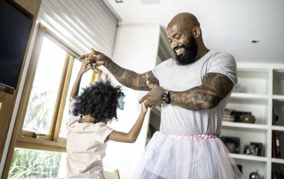 dady in tutu dancing with daughter smiling happy best weekend events for seattle families kids tacoma bellevue puget sound