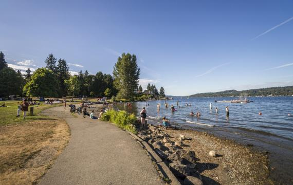 Matthews Beach seattle swimming areas kids families summer 2020