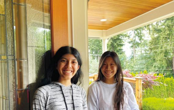 Kathryn Lau and Anya Shukla