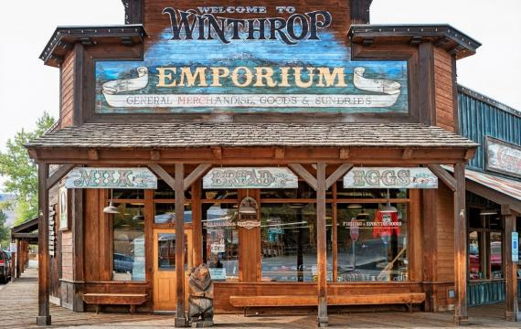 Winthrop Emporium stock up on supplies on a family-friendly fall getaway to Winthrop, Washington