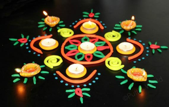 playdough rangoli