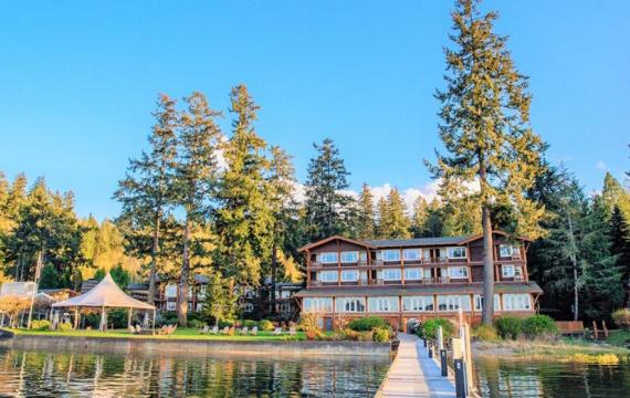 Water view onto Alderbrook Resort & Spa