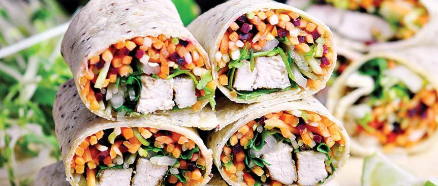 Sandwich wraps for lunch